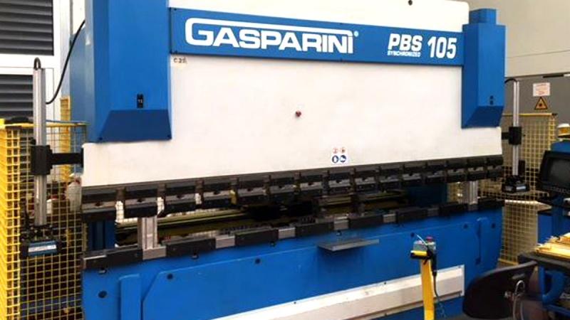 GASPARINI PBS 105 100 TON press brakes for 3 MT